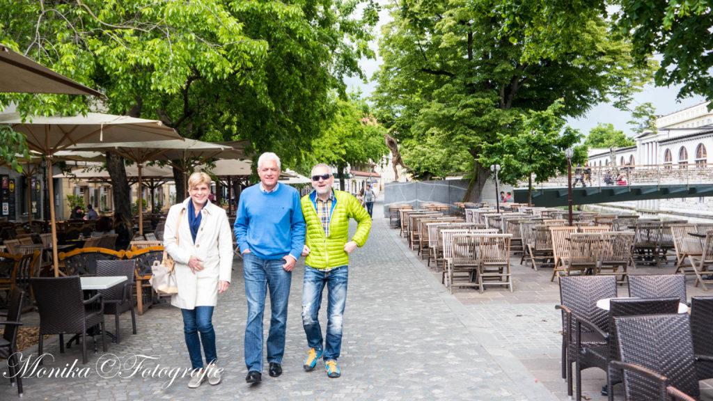 Wolfgang mit Bruno und Karin