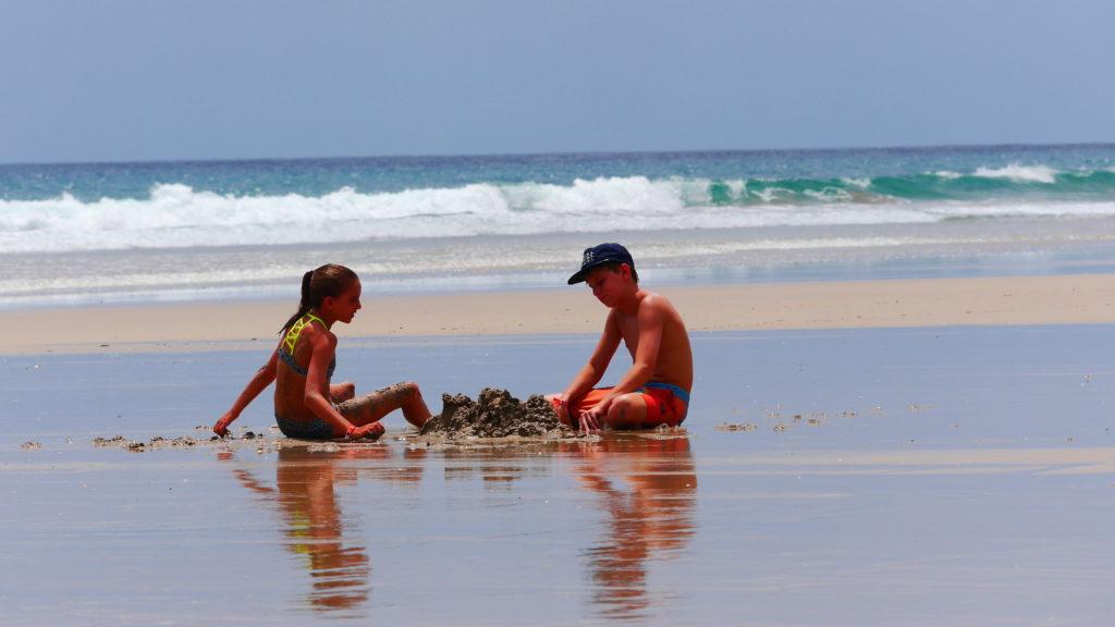 großer Sandhaufen