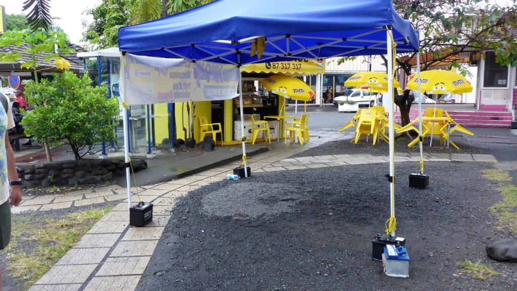 auch eine Möglichkeit ein Zelt zu befestigen ;-)