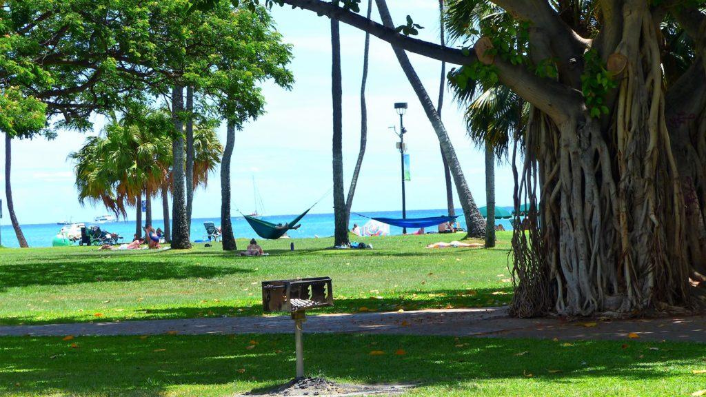 Blick zur Waikiki Beach