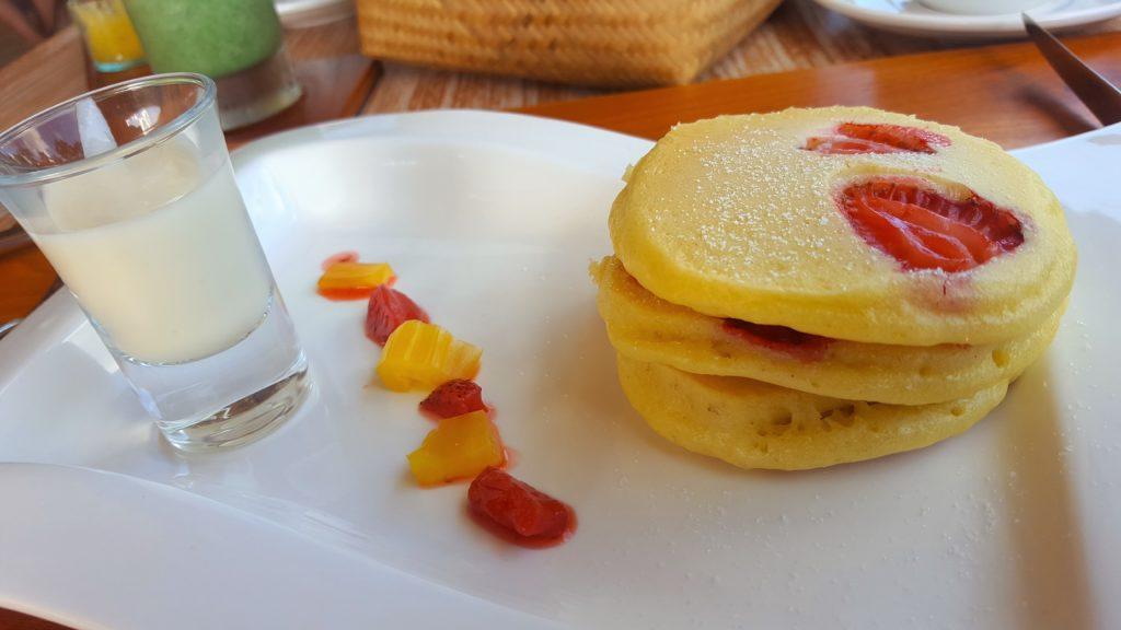 Pancacke mit Erdbeeren