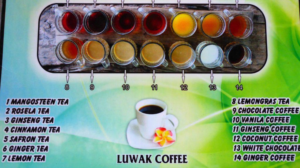 Verkostung verschiedener Tee- und Kaffeesorten