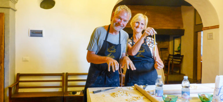 #Wir machen Pasta im Castello Meleto#